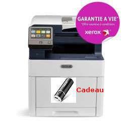 Xerox - Workcentre 6515V_DNI - Garantie à vie*, 5000 points Xerox* Multifonction, laser, couleur, A4, recto verso, réseau, wifi, 28 ppm, livré avec 4 toners (1500 pages en noir, 1000 pages en couleur)