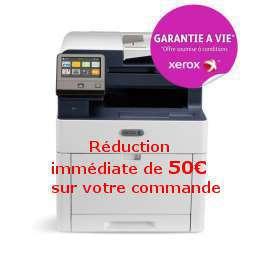 Xerox - Workcentre 6515V_DNI - Multifonction, laser, couleur, A4, rv, réseau, wifi, 28 ppm - Bon de réduction immédiat de 50€  - Calculez votre coût d impression - Garantie à vie*  - 5000 points Xerox* livrée avec 4 toners (1500 pages nb, 1000 cl)