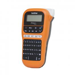 Brother - PT-E110VP - Etiqueteuse - portable pour les électriciens – Livrée avec mallette de transport et adaptateur secteur