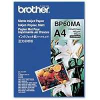 BROTHER - BP60MA - Brother BP 60MA Matte Inkjet Paper - Papier mat - A4 (210 x 297 mm) - 145 g/m2 - 25 feuille(s) - pour DCP J100, J132, J540, J552, J740, J752, J940, MFC J245, J650, J6520, J6720, J6920, J870