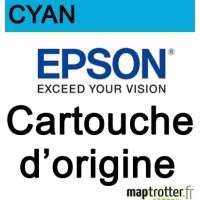 Epson - 18 - T1802 - Cartouche d'encre cyan - produit d'origine - s�rie paquerette - 180 pages - C13T18024010