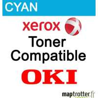43381907 - Toner remanufactur� Xerox OKI - Cyan - 2000 pages - 006R03126