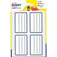 AVERY Pochette de 120 �tiquettes cadre bleu avec lignes - SCOL120