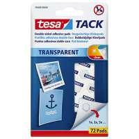 Tesa - Blister de 72 pastilles adh�sives Tack. Double-face r�utilisable/repositionnable. Objets l�gers. - 59408