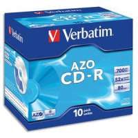 VERBATIM - 43327 - Verbatim AZO Crystal - 10 x CD-R - 700 Mo 52x - bo