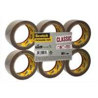 Scotch - Ruban d'emballage Classic en PP 41 microns - Dimensions : H50 mm x L66 m�tres havane BP972 - BP972