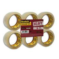 Scotch - Ruban d'emballage Heavy en PP 57 microns - Dimensions : H50 mm x L66 m�tres transparent BP976 - BP976