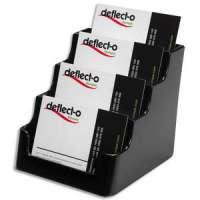 DEFLECTO Porte cartes visite 1x4 compartiment noir - DE70404