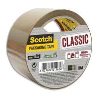 Scotch - Ruban d'emballage Classic en PP 41 microns - Dim : H50 mm x L50 m�tres havane BP965 - BP965
