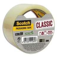 Scotch - Ruban d'emballage Classic en PP 41 microns - Dim : H50 mm x L50 m�tres transparent BP966 - BP966