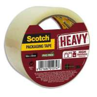 Scotch - Ruban d'emballage Heavy en PP 57 microns - Dim : H50 mm x L50 m�tres transparent BP978 - BP978