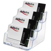 DEFLECTO Porte cartes visite 1x4 compartiment transparent 9.8X8.9X10.5cm - DE70841