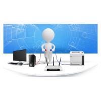 Installation Xerox - 30A4IFS - Multifonction A4 - impression/fax/scan R ou C - connexion de la machine par un technicien