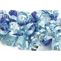 Clairefontaine - 613501 - CLAIREFONTAINE Sachet de 3 bandes froufrous (chaque bande = 10 rubans fris�s). Coloris argent et bleu