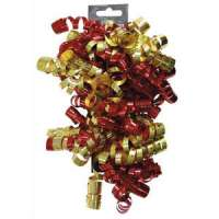 Clairefontaine - 613504 - CLAIREFONTAINE Sachet de 3 bandes froufrous (chaque bande = 10 rubans fris�s). Coloris rouge et or