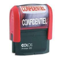 Colop - 0121COB - COLOP Timbre formule CONFIDENTIEL - Printer 20 L � encrage automatique Rouge. Dim.empreinte 14x38mm