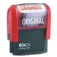 Colop - 0121ORB - COLOP Timbre formule ORIGINAL - Printer 20 L � encrage automatique Rouge. Dim.empreinte 14x38mm