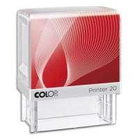 Colop - 012100PE - COLOP Timbre formule PERSONNEL - Printer 20 L � encrage automatique Rouge. Dim.empreinte 14x38mm