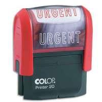 Colop - 0121URB - COLOP Timbre formule URGENT - Printer 20 L � encrage automatique Rouge. Dim.empreinte 14x38mm
