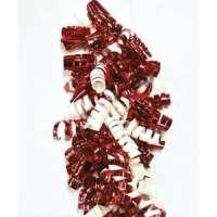Clairefontaine - 613506 - CLAIREFONTAINE Sachet de 3 bandes froufrous (chaque bande = 10 rubans fris�s). Coloris rouge et blanc