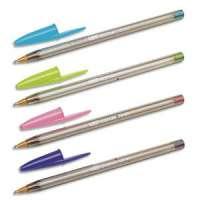 Bic - 895793 - BIC Stylo bille Cristal large fashion,pointe large,coloris assortis (rose, vert, violet, turquoise)