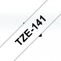 Brother - TZE-141 - Etiquettes - Noir sur Transparent - Rouleau (18 mm x 8 m) - autocollant lamain�