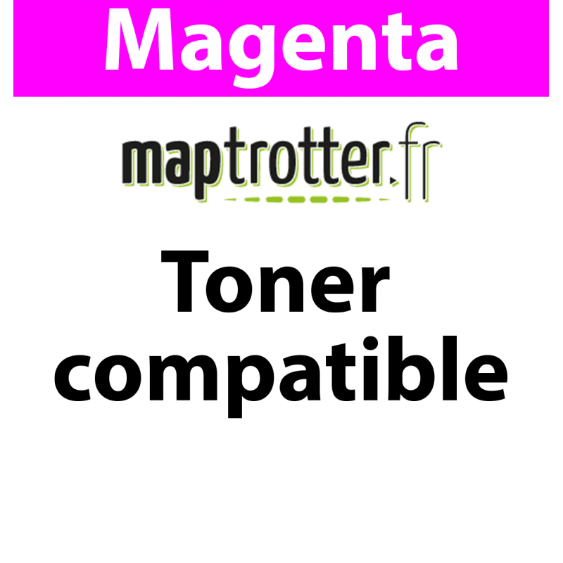 TK-5240M - Toner Maptrotter pour Kyocera - encre ISO/IEC 19752 - magenta - 4 000 pages - fabriqué en Allemagne - Référence : RE1